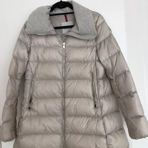 Moncler women's Torcyn puffer coat size 2, beige